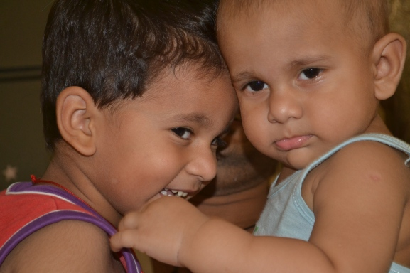 My Boys-ViraaJ in Red and Ayaan in Blue